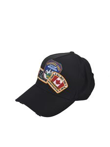 Dsquared2 - Patch logo cap in black