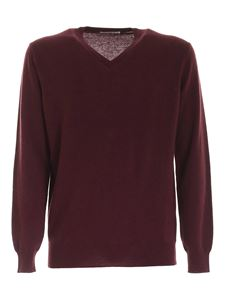 Kangra Cashmere - Patch pullover in wine color