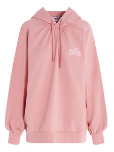 MSGM - Embroidered Cupid logo hoodie in pink