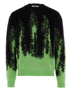 MSGM - Color fade sweater in black and green