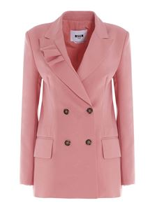MSGM - Doublebreasted blazer in pink