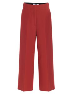 MSGM - Wide leg pants in red