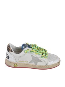 Golden Goose - Sneakers Ball Star bianche e animalier