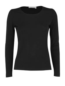 Le Tricot Perugia - Virgin wool T-shirt in black