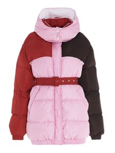 MSGM - Color block puffer jacket in pink