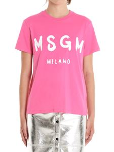 MSGM - Brushedlogo T-shirt in pink