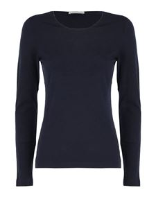 Le Tricot Perugia - Virgin wool T-shirt in blue
