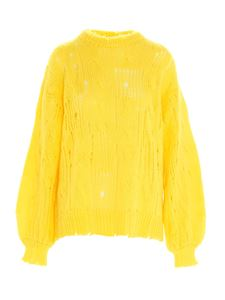 MSGM - Oversize sweater in yellow