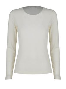 Le Tricot Perugia - Virgin wool T-shirt in white