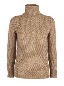 Le Tricot Perugia - Tricot effect pullover in camel color