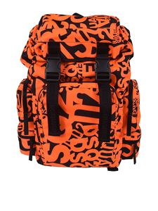 Dsquared2 - All-over logo backpack in orange and black