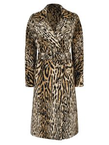 Ermanno Scervino - Double-breasted coat in animalier