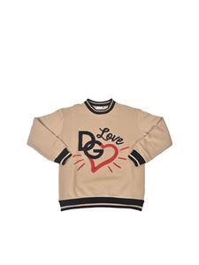 Dolce & Gabbana Jr - Logo sweatshirt in brown