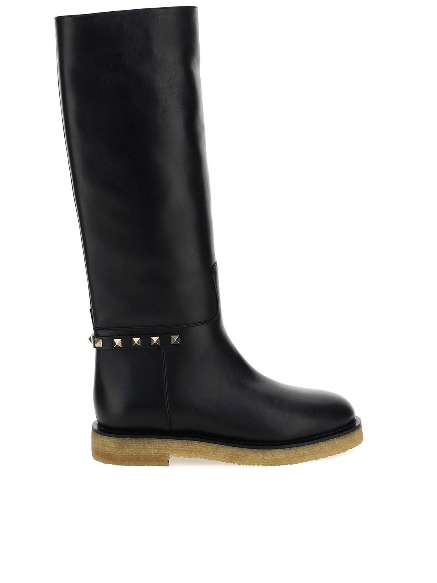 Valentino CALFSKIN BOOTS WITH STUDS