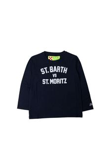 MC2 Saint Barth - T-shirt logata blu
