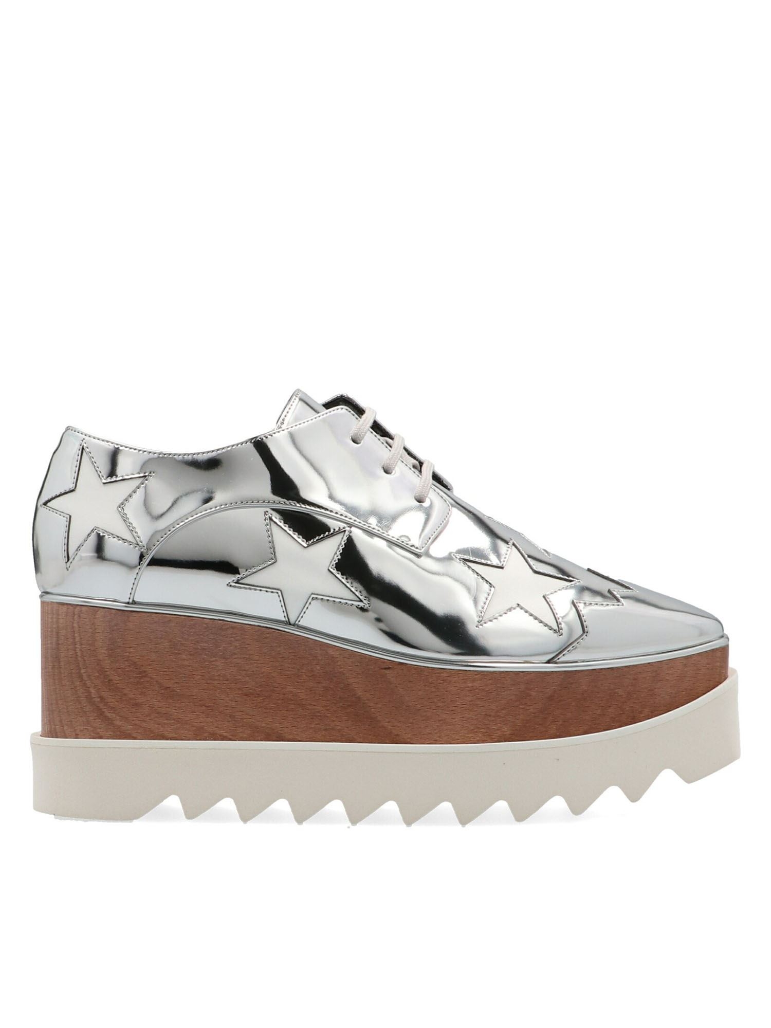Stella Mccartney STELLA MCCARTNEY ELYSE PLATFORM SHOES IN INDIUM SILVER COLOR