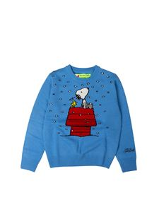 MC2 Saint Barth - Snoopy pullover in light blue