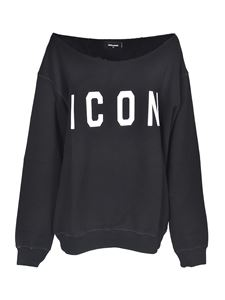 Dsquared2 - Icon wide neck sweatshirt in black