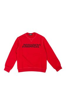Dsquared2 - Branded sweatshirt in red and black