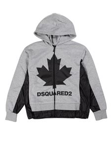 Dsquared2 - Felpa Maple Leaf grigio melange