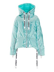 Khrisjoy - Khris laminated down jacket in light blue