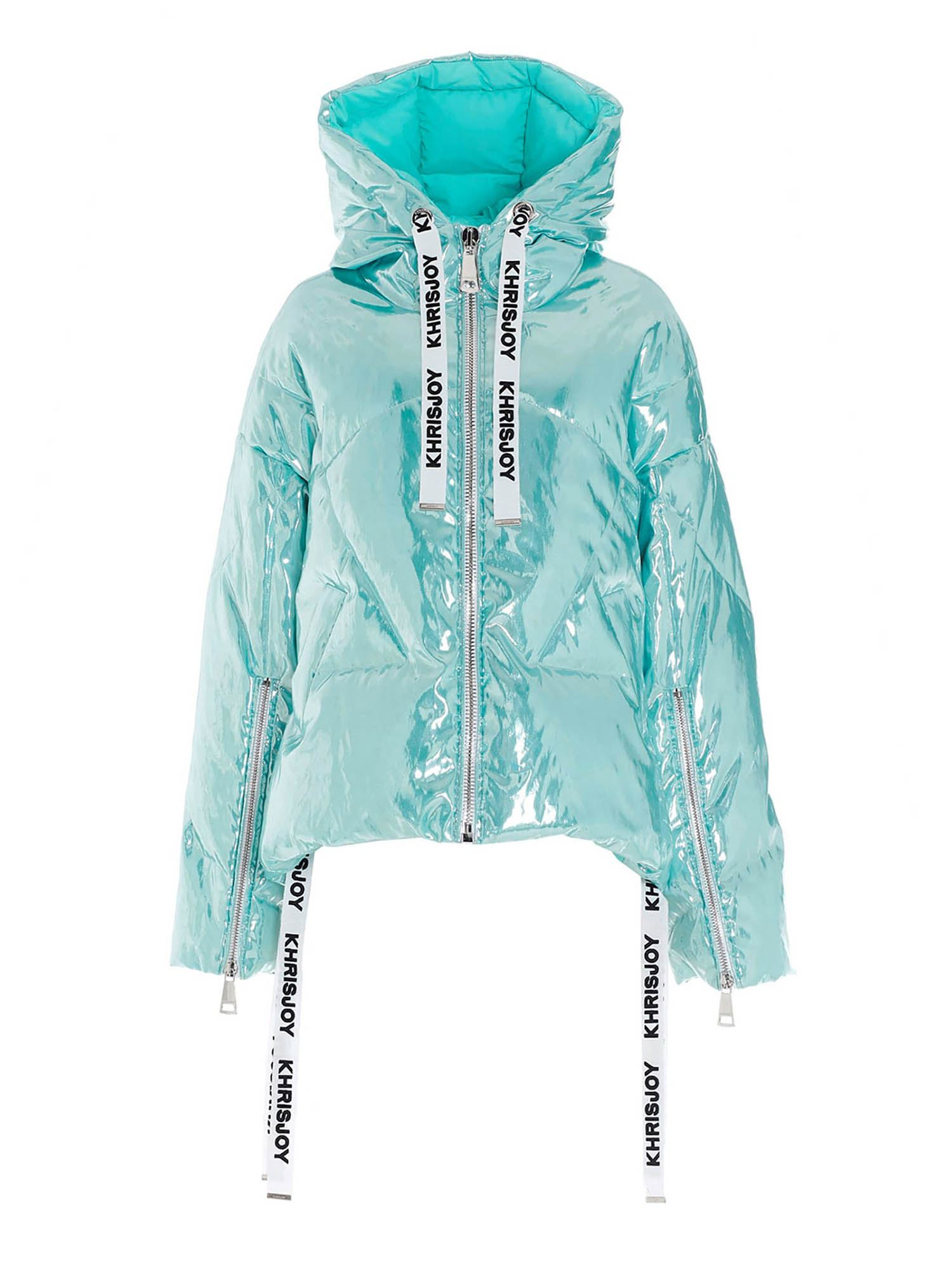 Khrisjoy Downs KHRIS LAMINATED DOWN JACKET IN LIGHT BLUE