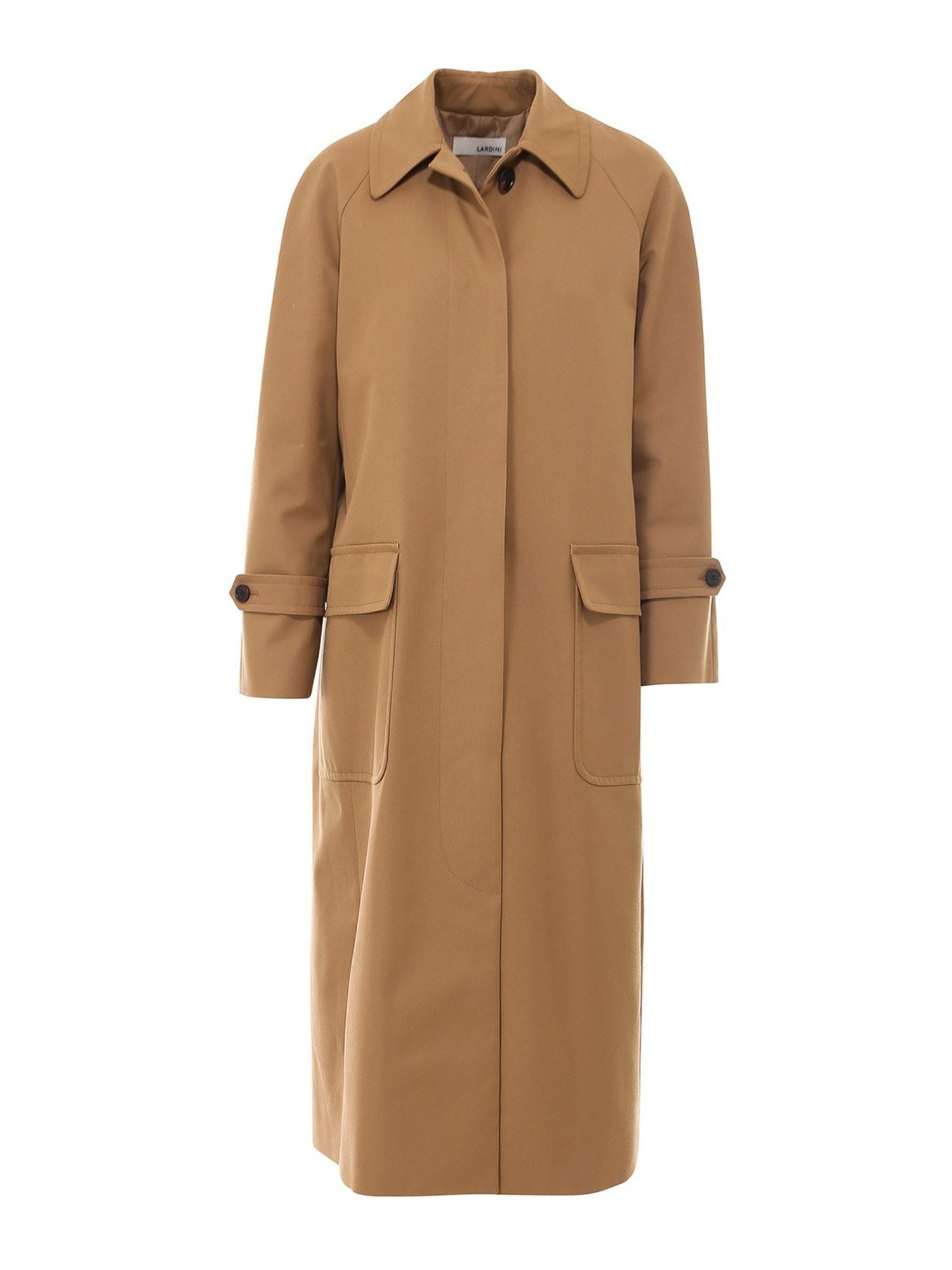 Lardini PLEATED LONG COAT