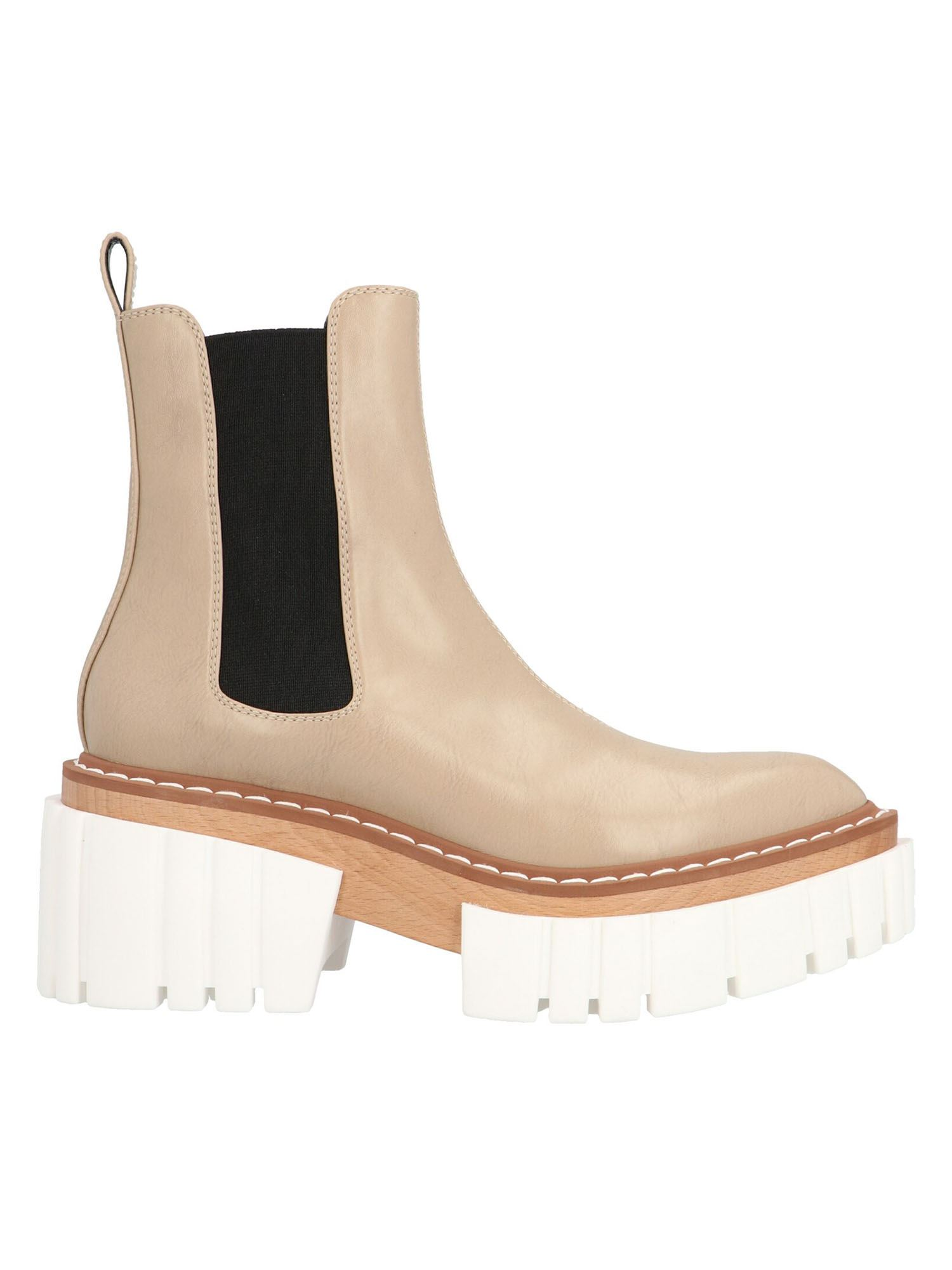 Stella Mccartney STELLA MCCARTNEY EMILIE ANKLE BOOTS IN SAND COLOR