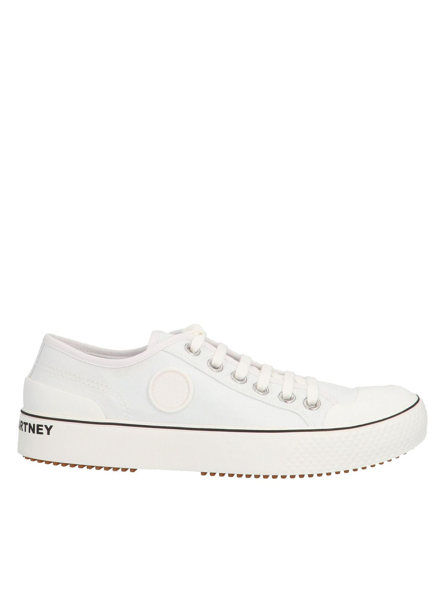 Stella Mccartney STELLA MCCARTNEY LOGO LETTERING SNEAKERS IN WHITE