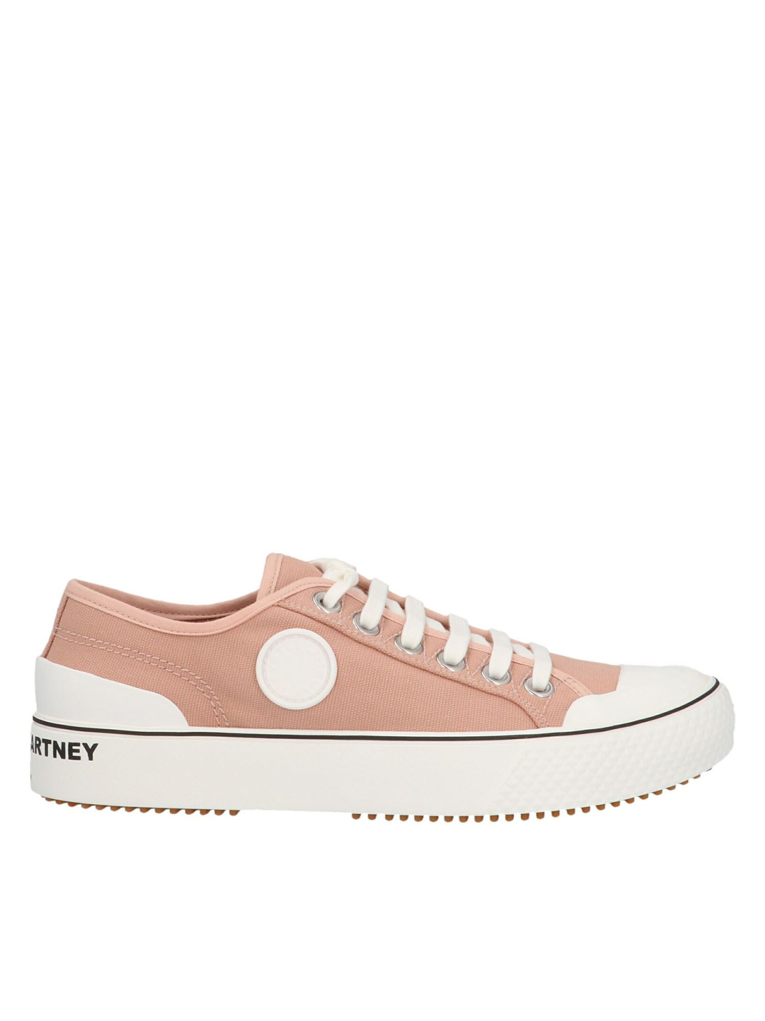 Stella Mccartney STELLA MCCARTNEY LOGO LETTERING SNEAKERS IN PINK