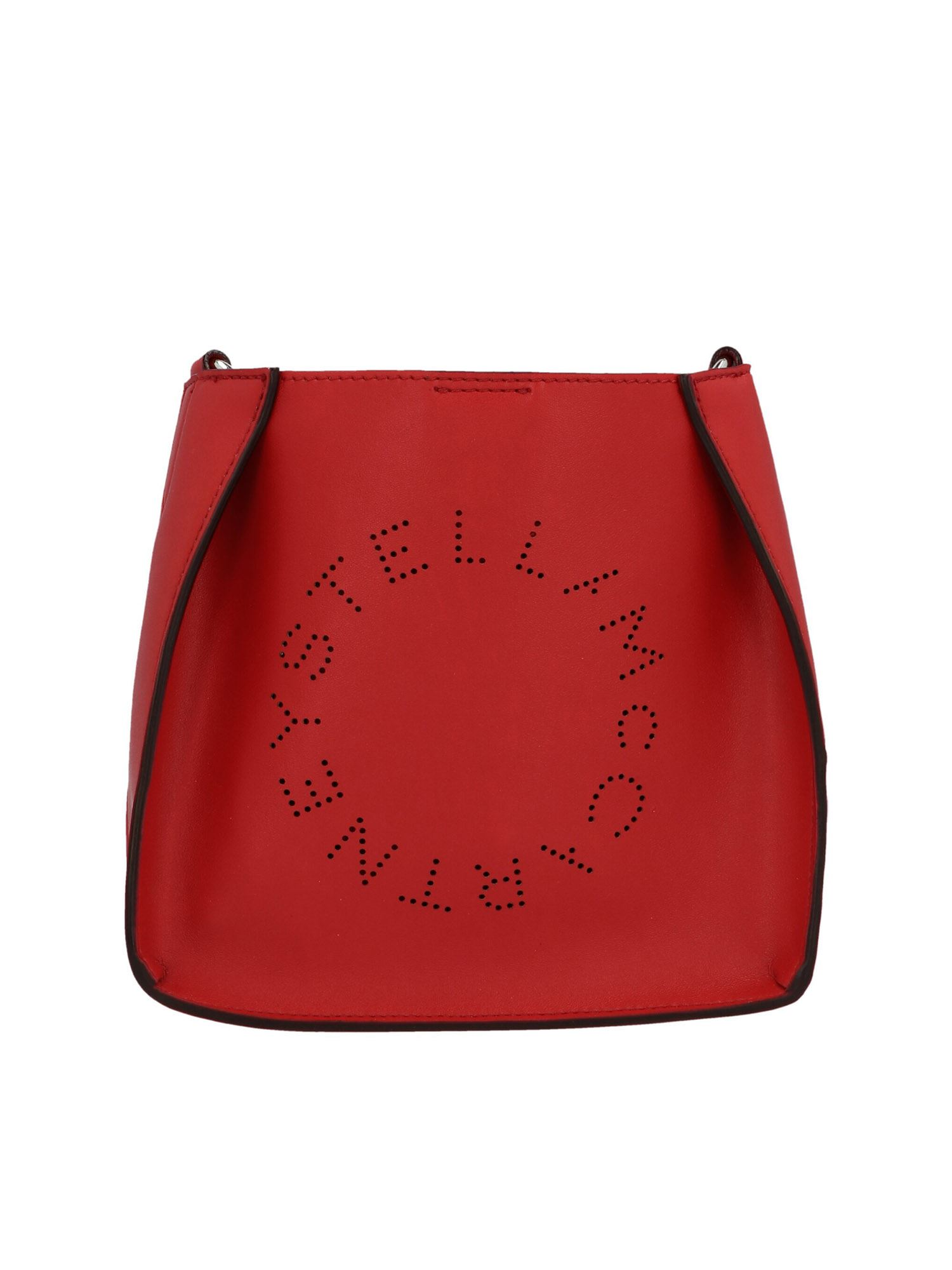 Stella Mccartney STELLA MCCARTNEY STELLA LOGO MINI BAG IN RED