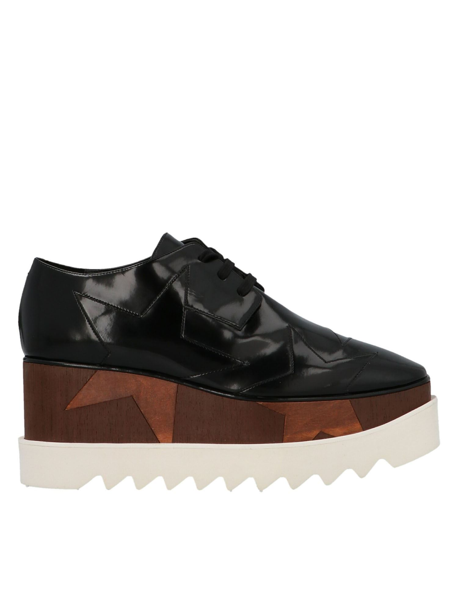 STELLA MCCARTNEY STELLA MCCARTNEY ELYSE STARS PLATFORM SHOES IN BLACK