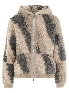 Stella McCartney - Giacca in eco shearling multicolor