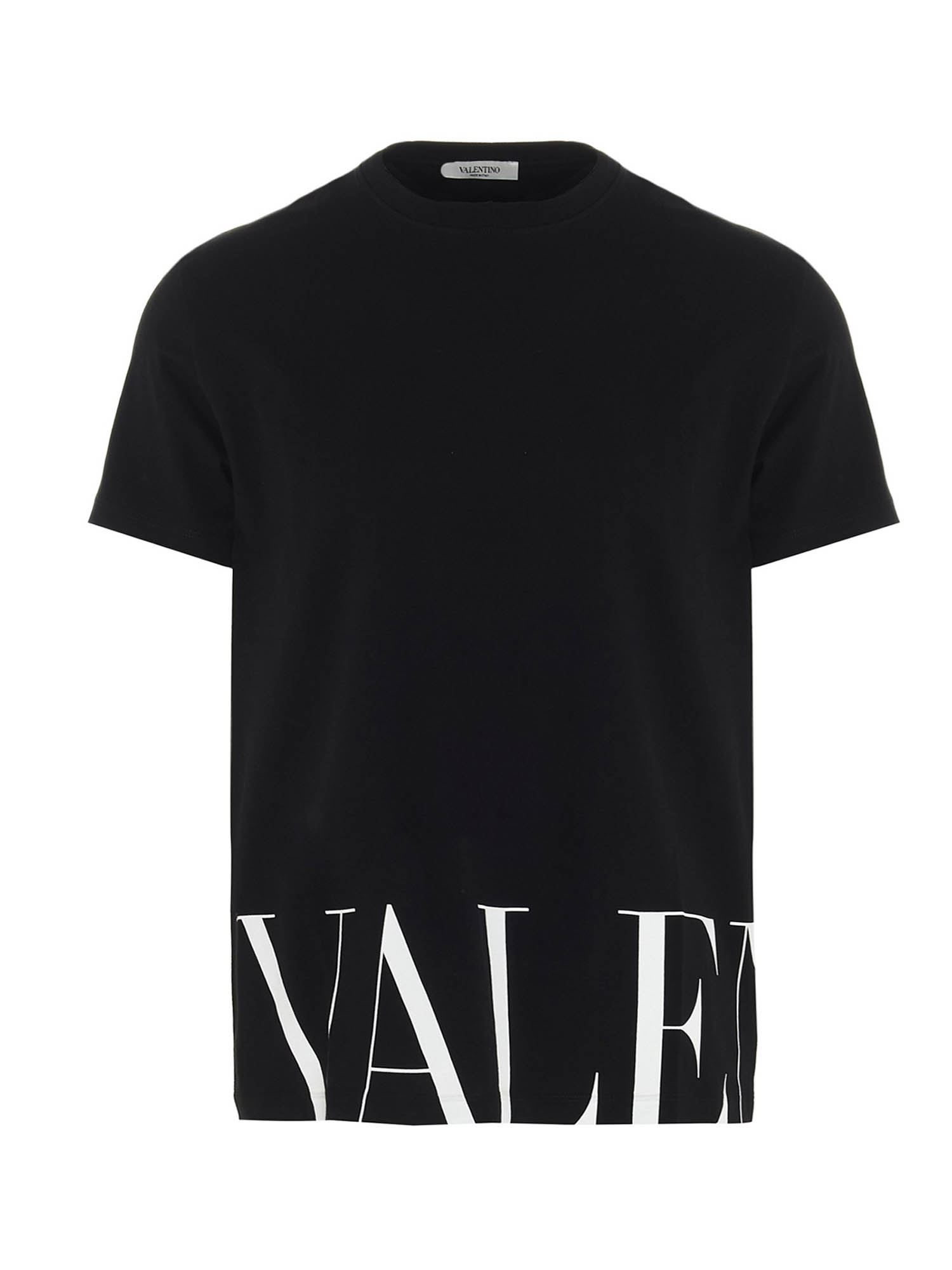 Valentino LOGO PRINT T-SHIRT IN BLACK