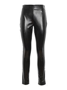 Twin-Set - Faux leather stretch trousers