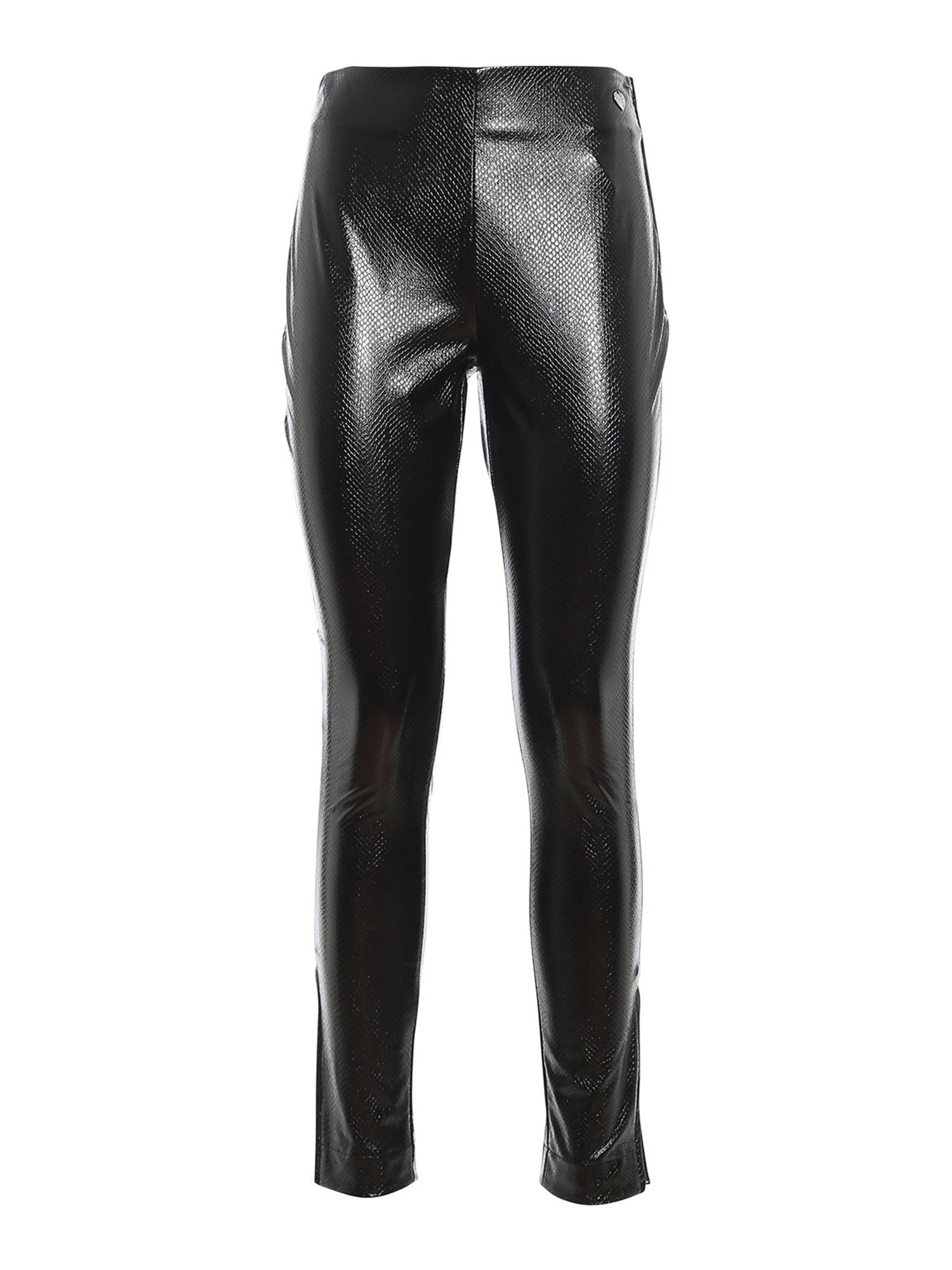 Twinset FAUX LEATHER STRETCH TROUSERS