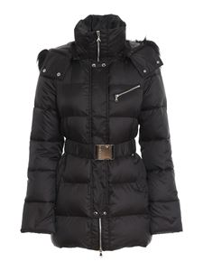 Patrizia Pepe - Padded jacket with faux fur crown at hood