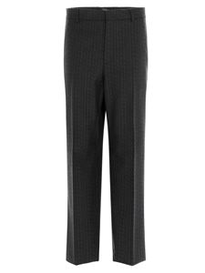 Valentino - All-over VLTN straight pants in grey