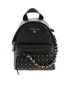Michael Kors - Slater black backpack with gold studs