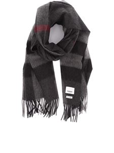 Burberry - Mega Check patterned cashmere scarf