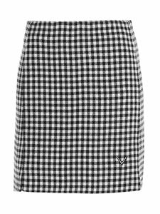 Valentino - Vichy miniskirt in white and black