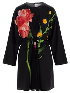 Valentino - Flowersity Peony short dress in black