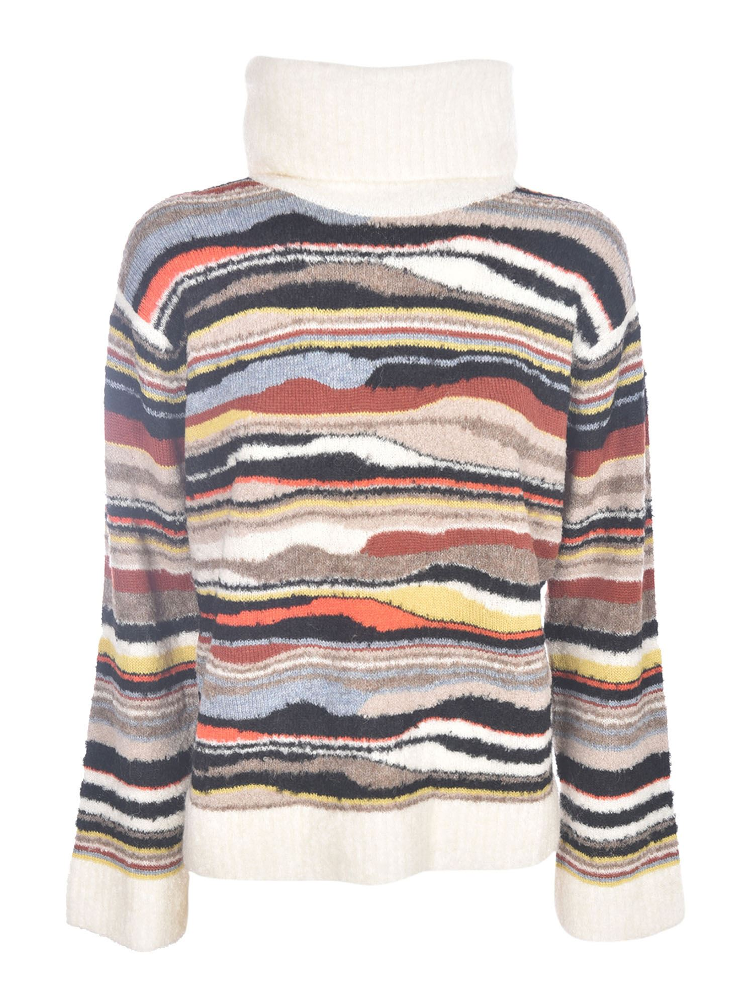 M Missoni MULTICOLOR DROPPED SHOULDER PULLOVER