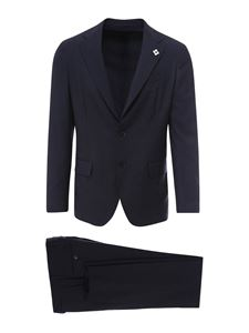 Lardini - Stretch wool blend suit
