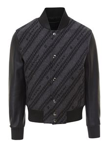 Givenchy - Leather sleeved bomber jacket