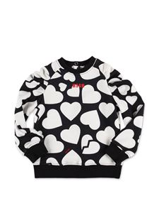 MSGM - Hearts set in black and white