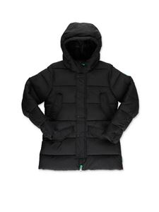 Save the duck - Black puffer jacket with hood