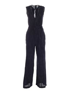 M Missoni - Lamé detail jumpsuit in blue