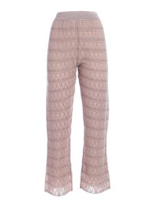 M Missoni - Lamé details pants in beige