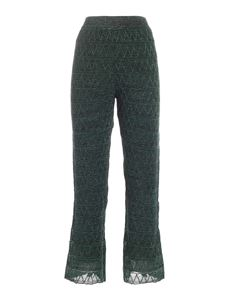 M Missoni - Lamé details pants in green